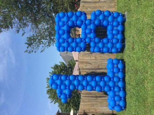 Birthday Yard Decor: Giant Number Sculpture